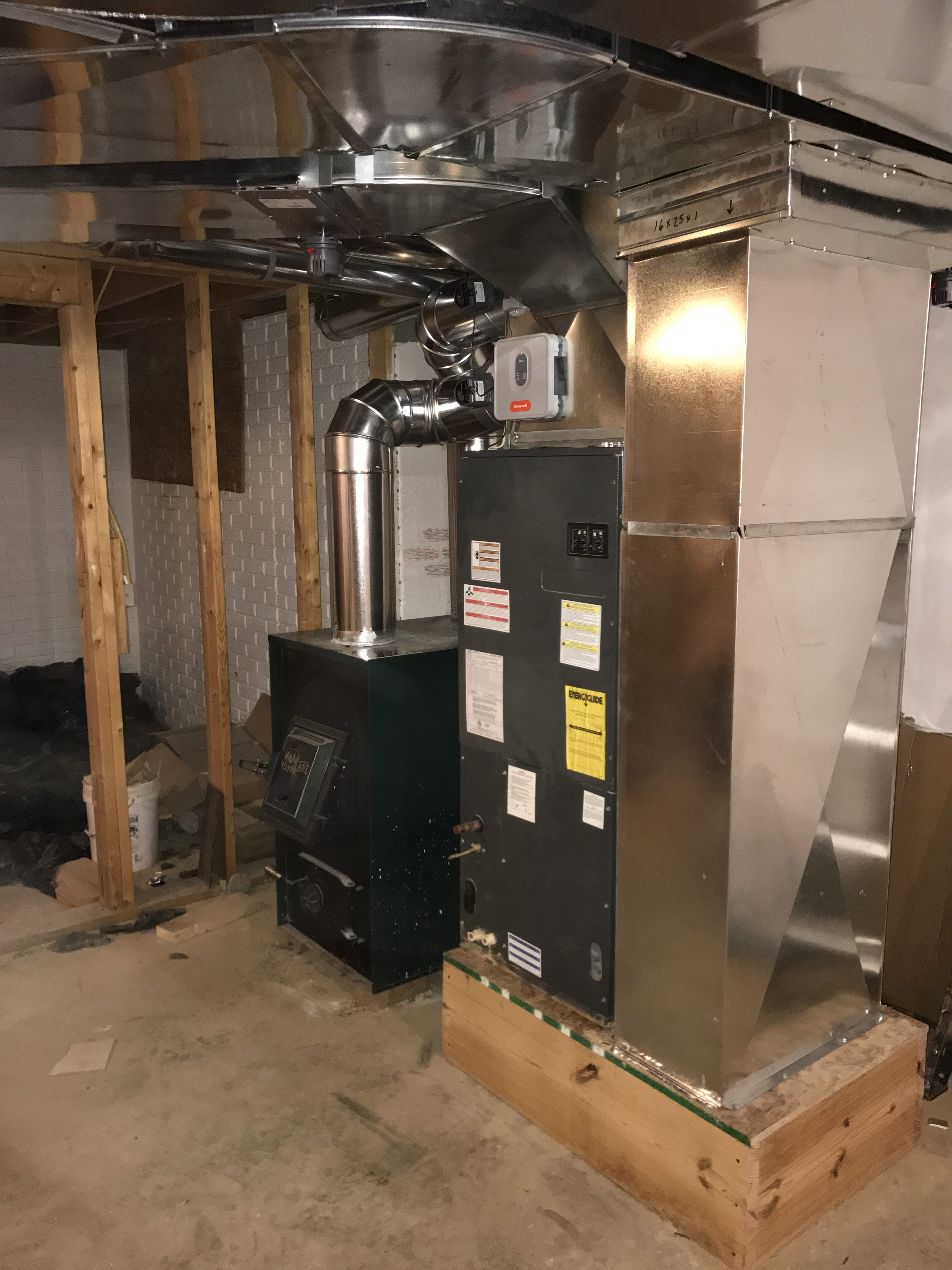 Recent services performed by wood heating and ac wood for Whole house wood furnace